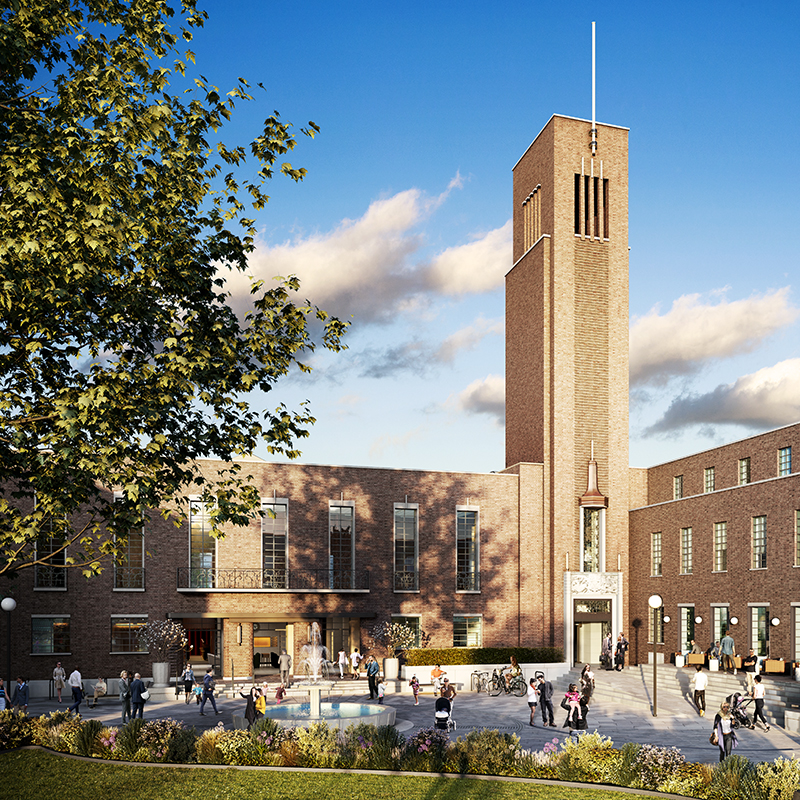 Hornsey Town Hall - Development