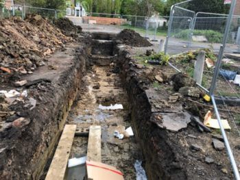 Build progress as archaeological dig at historic site of Hornsey Town Hall is complete - Hornsey Town Hall, Crouch End
